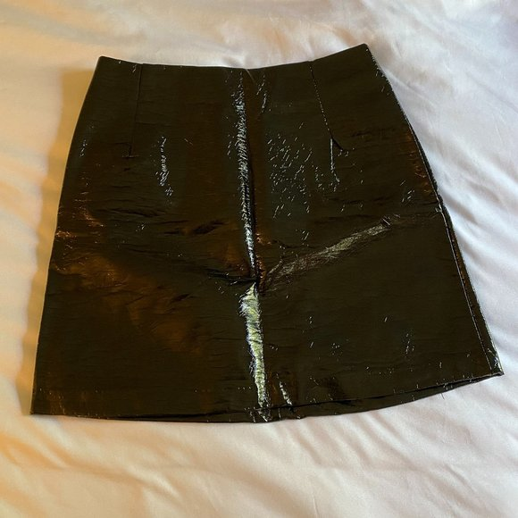 H&M Faux Leather Mini Skirt